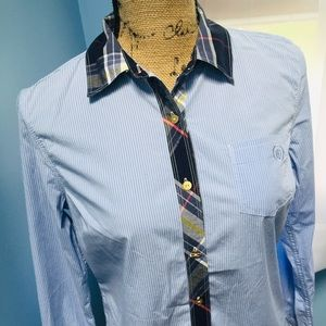 Tommy Hilfiger Pinstripe Button Down with Plaid